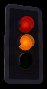 gelb-rote Ampel